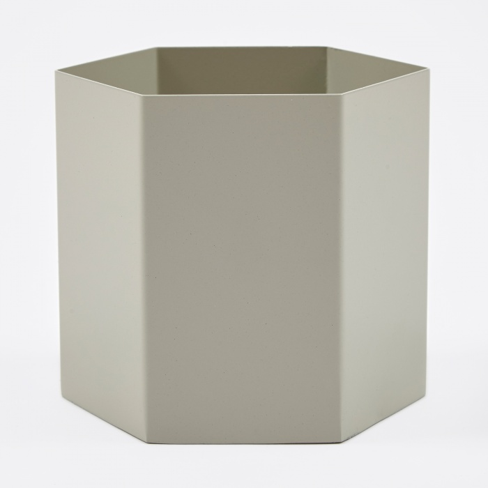 Ferm Living Hexagon Pot Extra Large - Light Grey (Image 1)