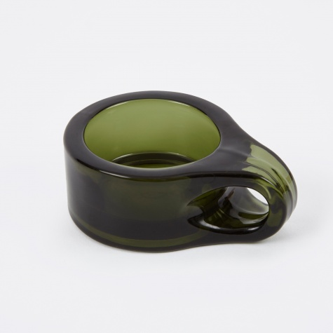 Floe Tealight Holder - Dark Green