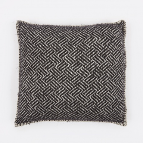 Samba Cushion Cover 45x45cm - Black