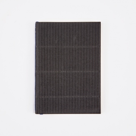 Corrugated Notebook A6 - Black