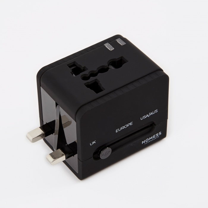 Nomess Travel Adapter - Black (Image 1)