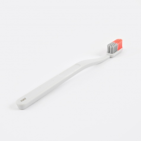 Tann Toothbrush - Grey & Coral