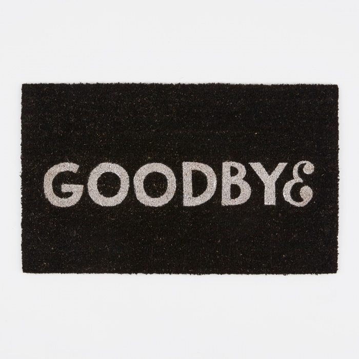 Parra Goodbye Doormat - Black (Image 1)