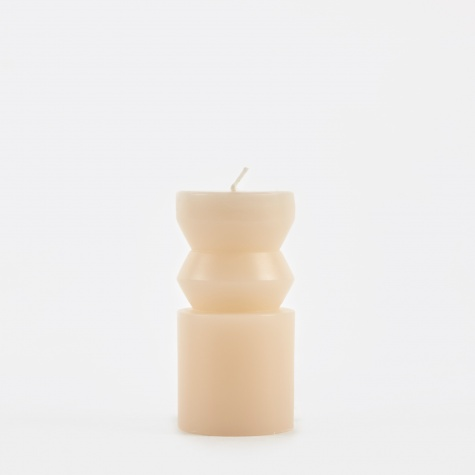 Totem Candle Pleat Small - Sand