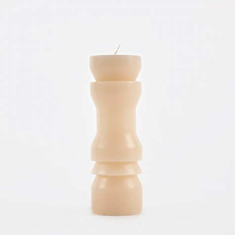 Totem Candle Stack Medium - Sand