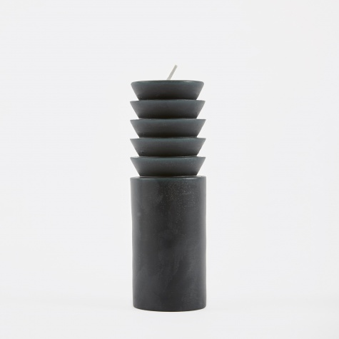 Totem Candle Step Medium - Forest Green