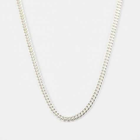24 Filed Curb Chain - Silver