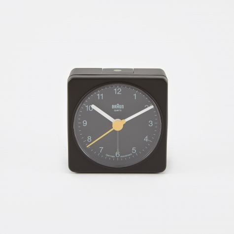 Classic Travel Alarm Clock - Black
