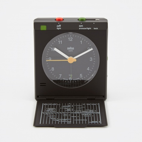 Classic Relflex Control Travel Alarm Clock - Black