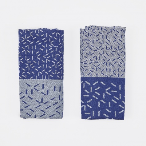 Splash Tea Towels - Blue/Blue