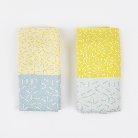 Splash Tea Towels - Yellow/Blue