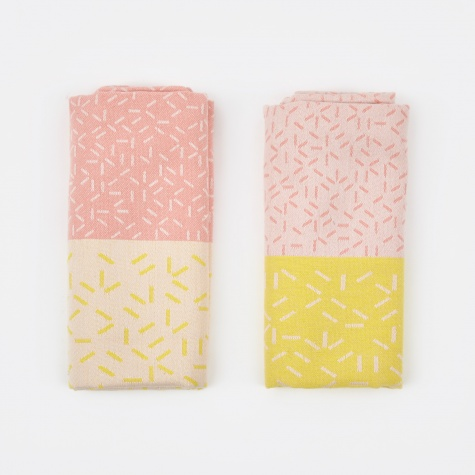 Splash Tea Towels - Pink/Yellow