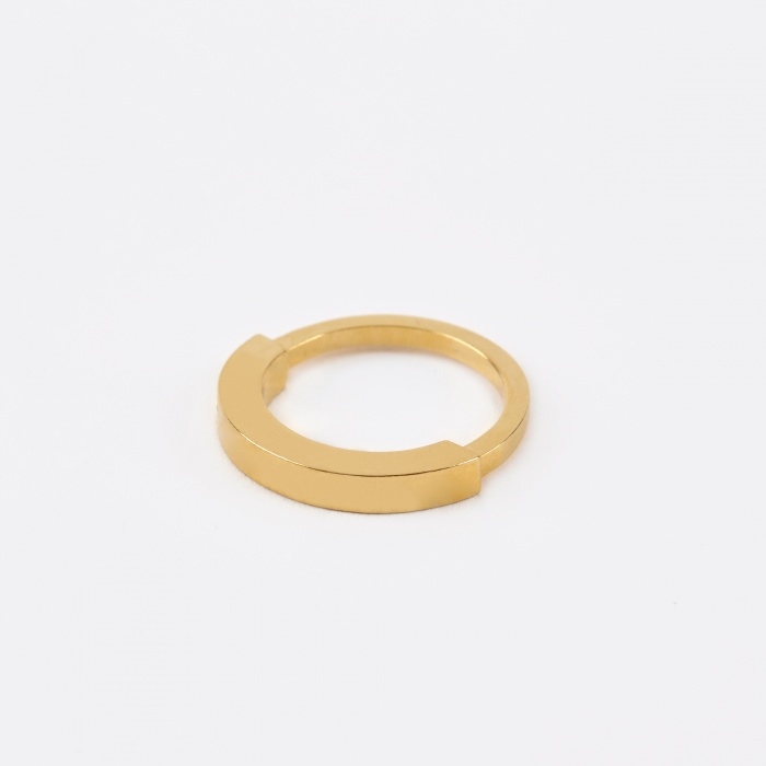 The Boyscouts Round Aeon Ring - Gold (Image 1)
