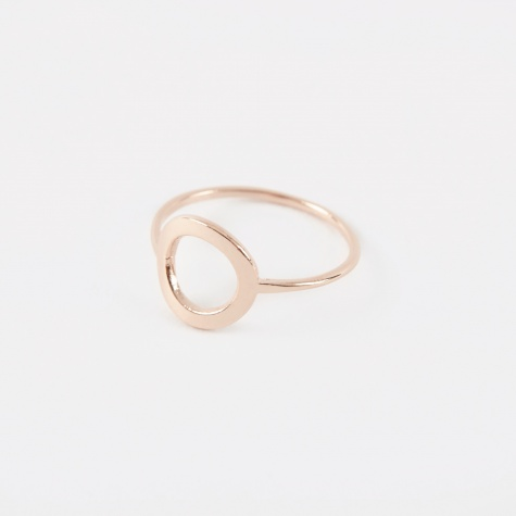 CRUSADE Round Ring - 18K Rose Gold Plated