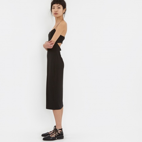 T By Alexander Wang Modal Spandex Strappy Cami Tank Dress - Blac