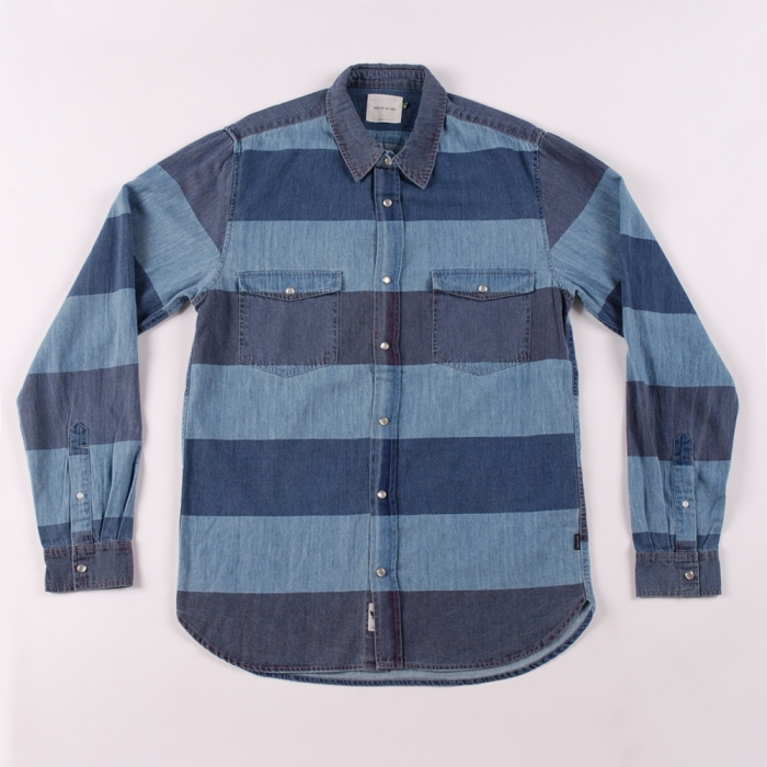 Wood Wood Maloja - Navy Plum Stripes (Image 1)