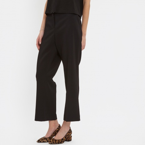T By Alexander Wang Drape Pleat Crop Trouser - Black