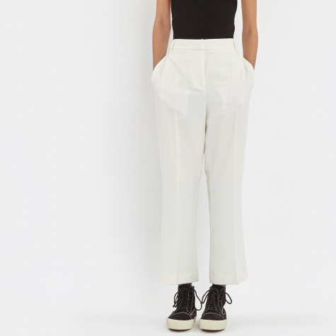 T By Alexander Wang Drape Pleat Crop Trouser - Eggshell