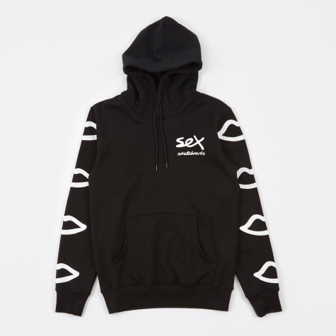 Sleeve Logo Hooded Sweatshirt - Black