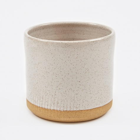 "7"" Planter - White Speckle"