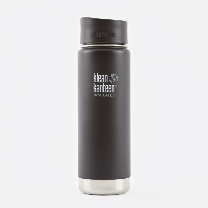 Klean Kanteen Wide Insulated With Cafe Cap 592ml - Shale Black (Image 1)