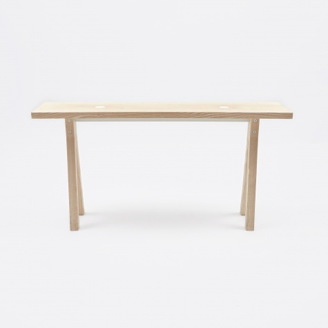 2-DOTS Bench (White) Ash Top / Ash Trestles