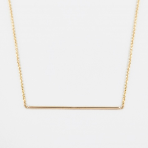 Line Pendant - 14K Yellow Gold