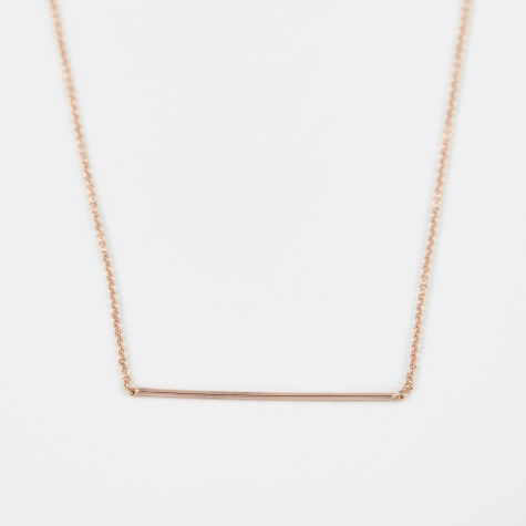 Line Pendant - 14K Rose Gold