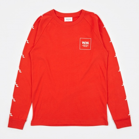 Han Longsleeve T-Shirt - Burnt Red