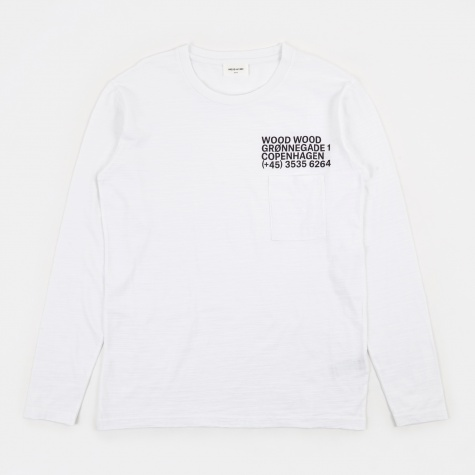 Peter Longsleeve T-Shirt - Bright White