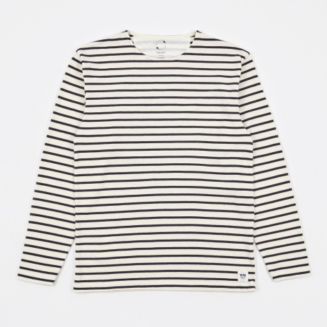 Harrison Longsleeve T-Shirt - Pristine/Dress Blues