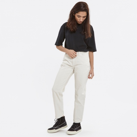 Eve Cropped Jeans - Cream