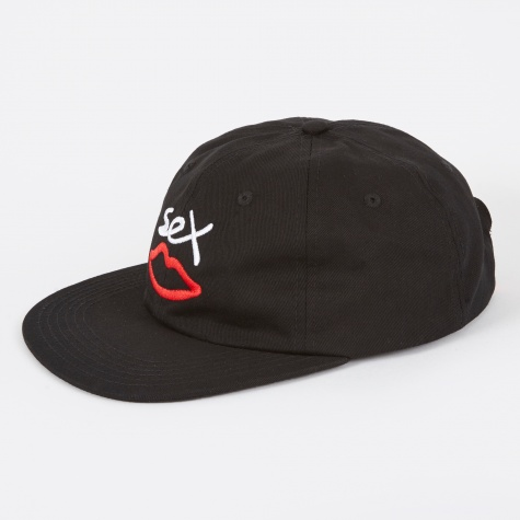 Sex Logo 6 Panel Cap - Black