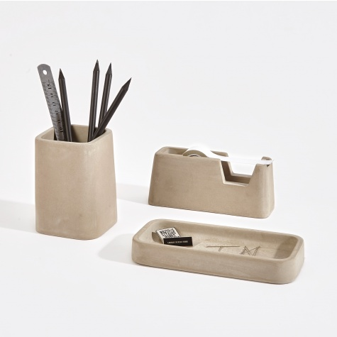 Concrete Desk Accessories Set