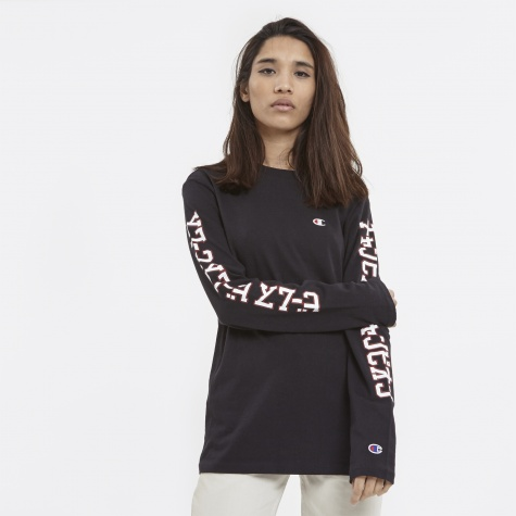 x Beams  L/S Crew Neck - Black