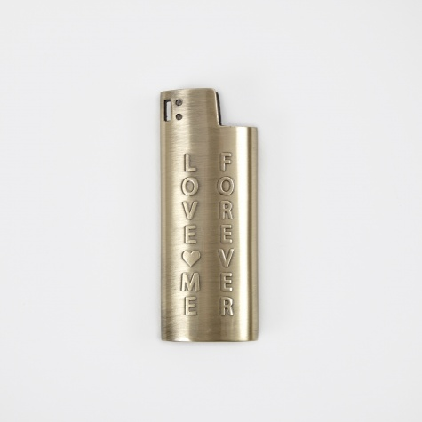 Love Me Small Lighter Case - Brass