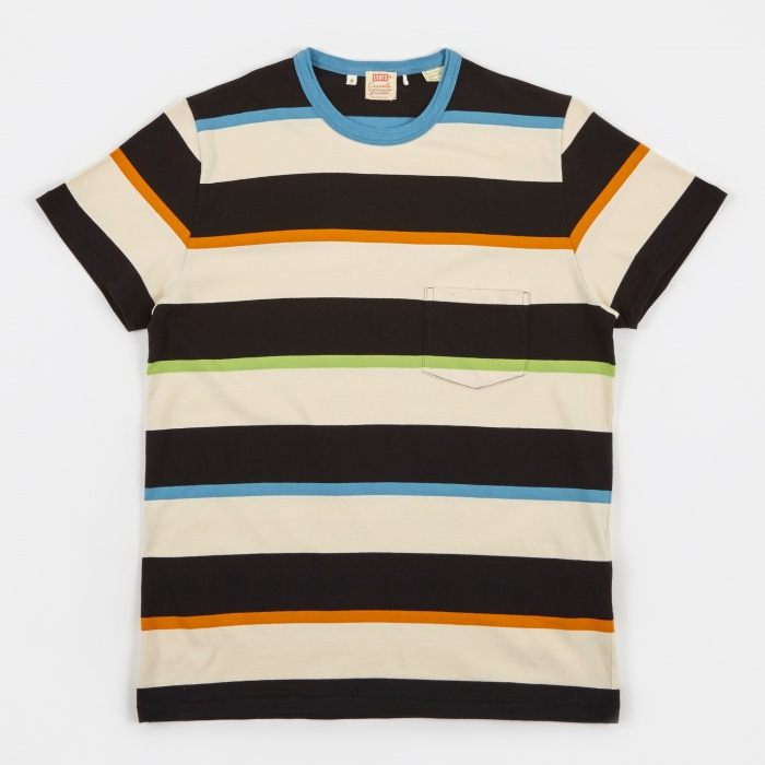 Levi's Vintage Clothing LVC 1960's Casual Stripe T-Shirt - MF (Image 1)