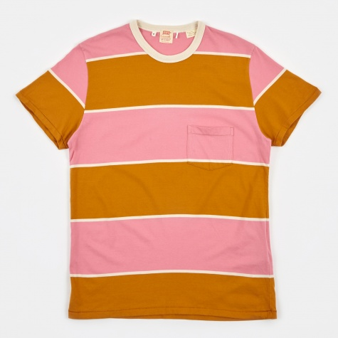 LVC 1960's Casual Stripe T-Shirt - Pea