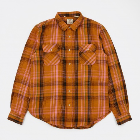 LVC Shorthorn Shirt - Check Peanut
