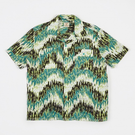 LVC Spread Collar Shirt - Green Haze