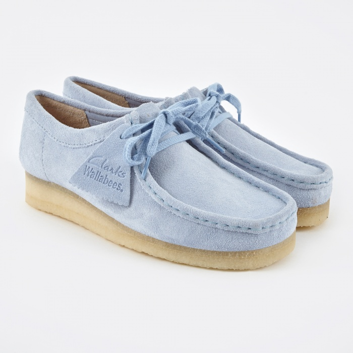 Clarks Originals Clarks Wallabee - Pastel Blue (Image 1)