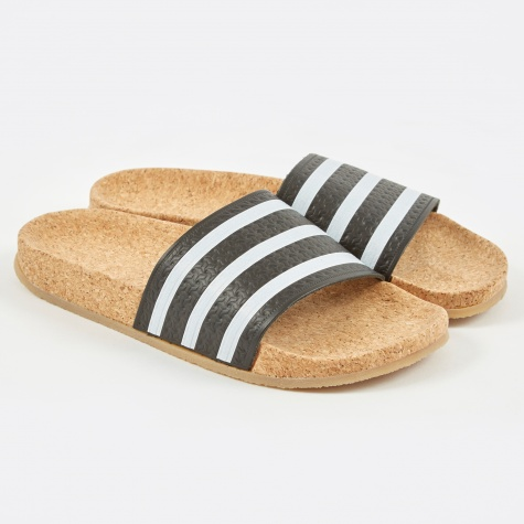 Adilette Cork - Core Black/FTWR White