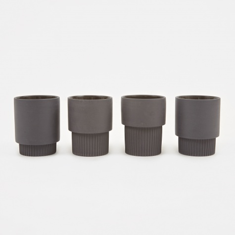 Groove Cups - Black (Set of 4)