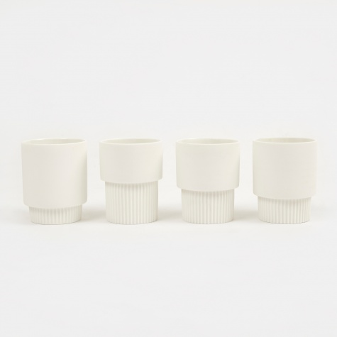 Groove Cups - White (Set of 4)