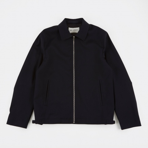 Coach Jacket - Dark Navy Worsted Wool