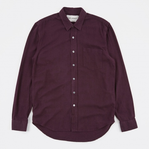 Classic Shirt - Purple Silk Noil