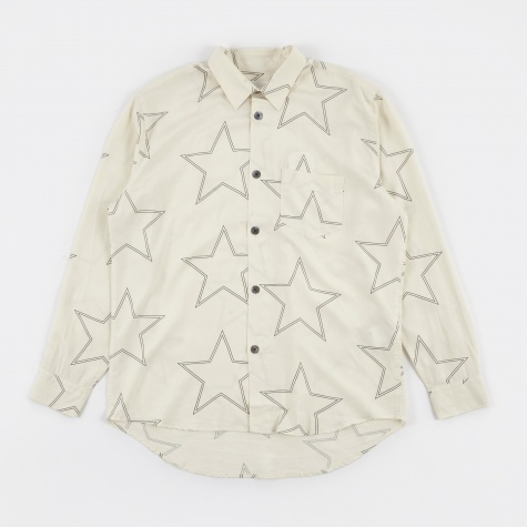 Initial Shirt - White Silk Star