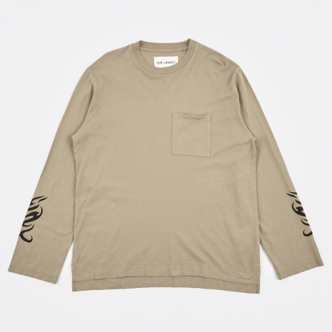 Box Longsleeve T-Shirt - Sand Tribal Army Jersey