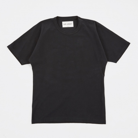Bat T-Shirt - Black Reversed Weave