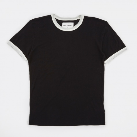Perfect T-Shirt - Black/White Light Crepe